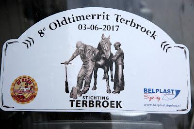 Terbroek 8ste Oldtimerrit  Vertrek bij Garage Florijn 3--6--2017