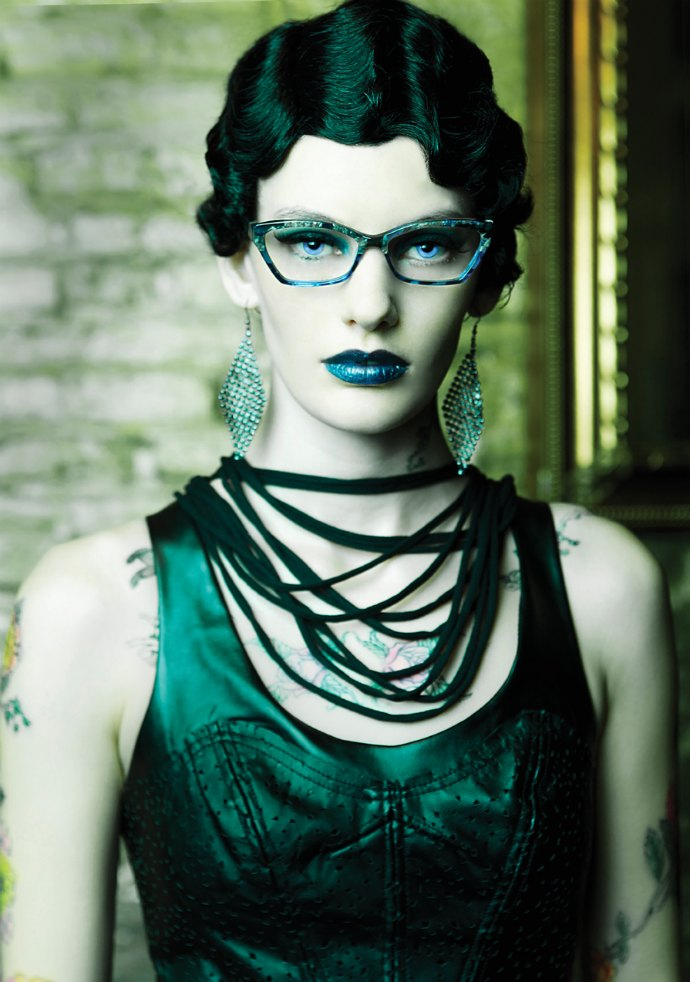 Blue lips, blue frames, the colour of Ogi Eyewear's Spring ad campaign