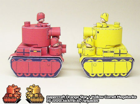 Advance Wars - Megatank Papercraft