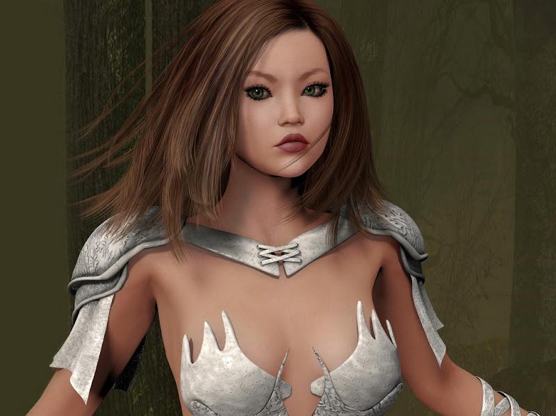 Samurai Japan Girl In White, Magic Samurai Beauties