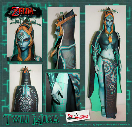 Midna Papercraft True Form