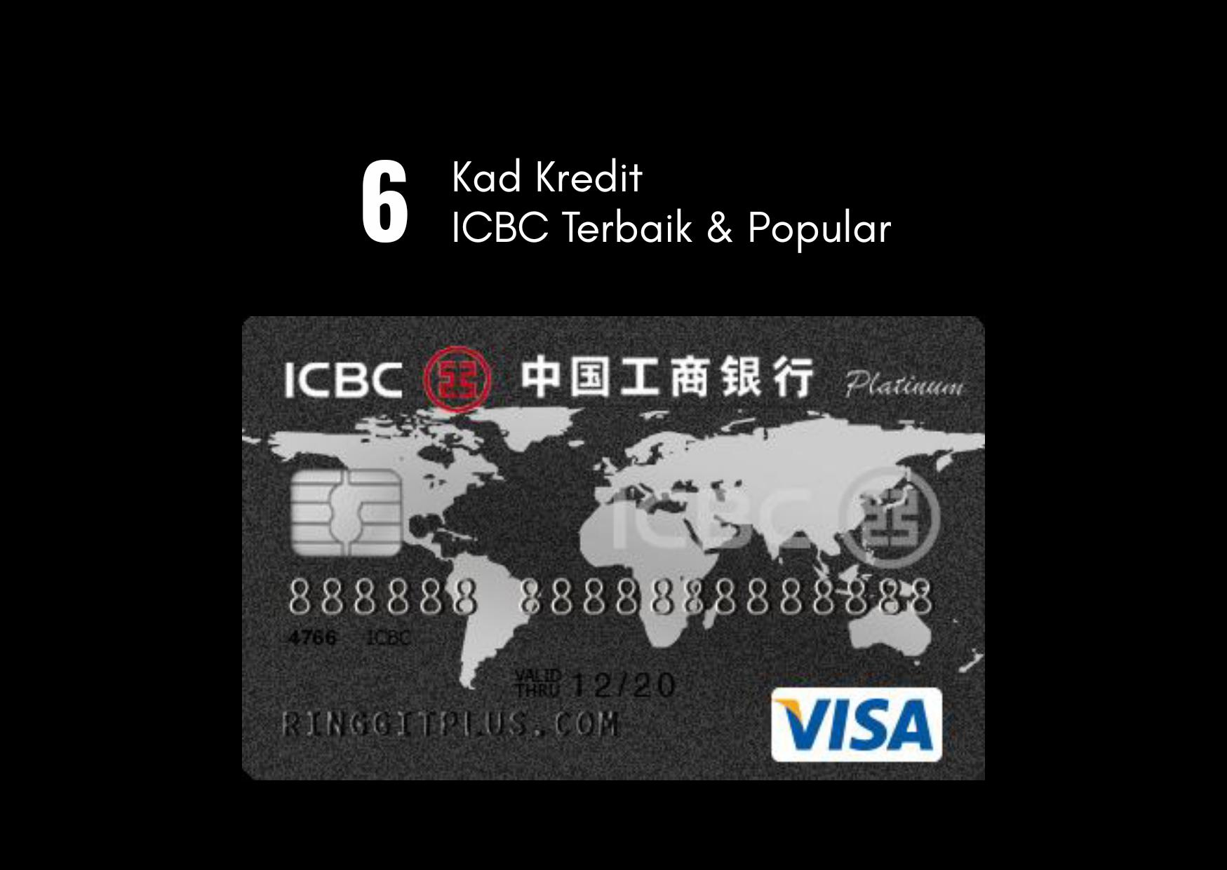 6 Kad Kredit ICBC Bank Popula