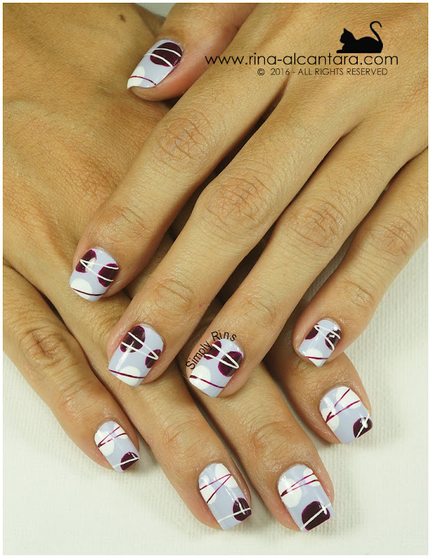 For the Love of Abstract Nail Art Design by Simply Rins