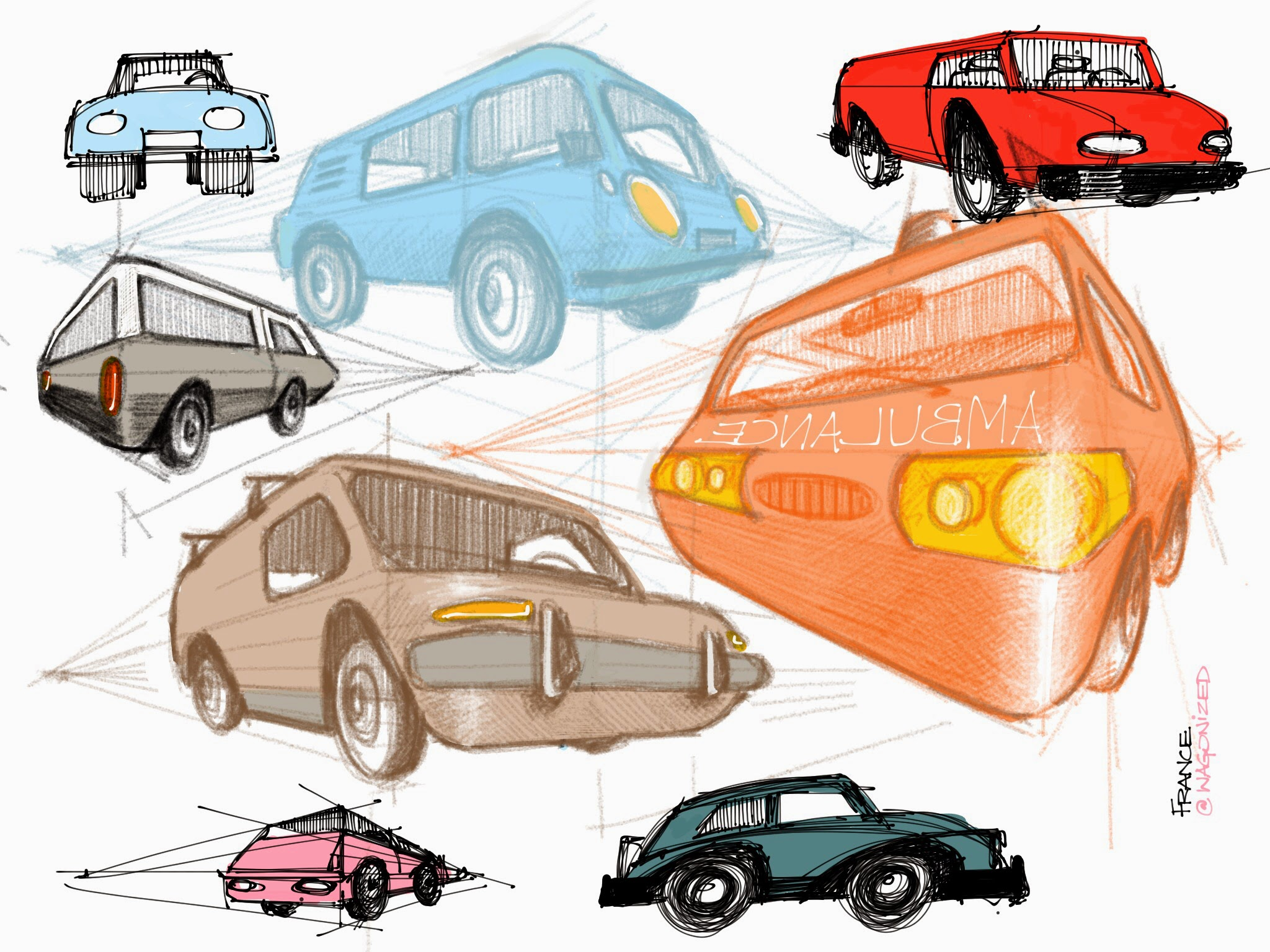 Wagonized Doodling Cars With The Tv On