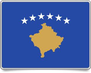 Kosovar framed flag icons with box shadow