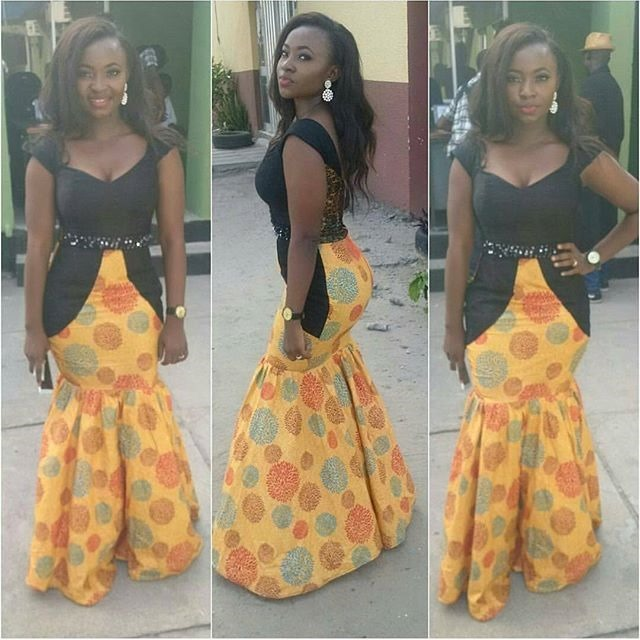 Beautiful long free ankara design (1)