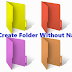 How To Create A  Folder With Blank Name In PC [Working]