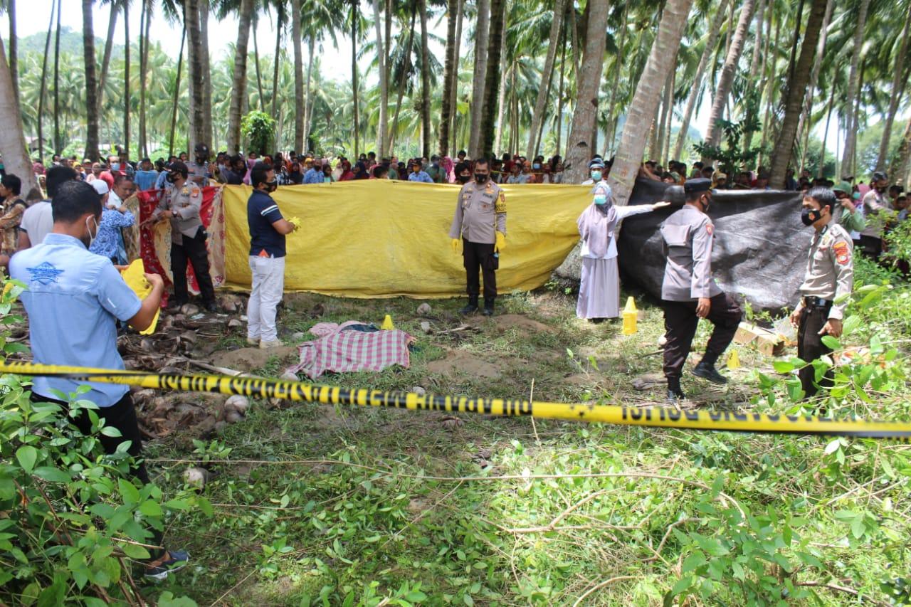 Warga Desa Ilambe Digegerkan Penemuan Mayat Perempuan di Perkebunan Kelapa