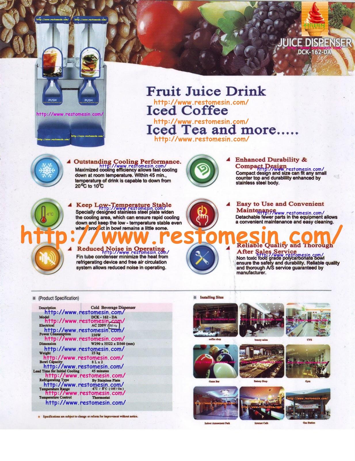 Juice Dispenser DCK 162 DA Mesin Pendingin Minuman Atau