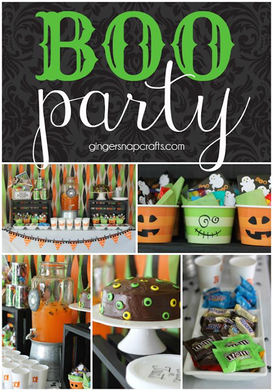 Boo Party at GingerSnapCrafts.com #halloween #boo #booitforward #partyideas