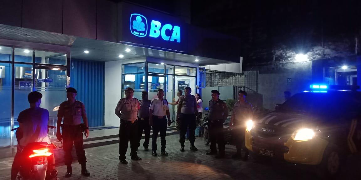 Amankan Wilayah di Malam Hari, Polres Tanjung Balai Gelar Patroli Blue Light