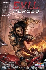 Actualizacion 21/07/2017: Omar FL de Prix-Comics comparte con nosotros el numero 3 de E.V.I.L. HEROES.