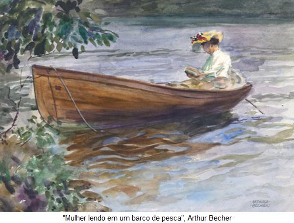 Resultado de imagem para mulher lendo em um barco