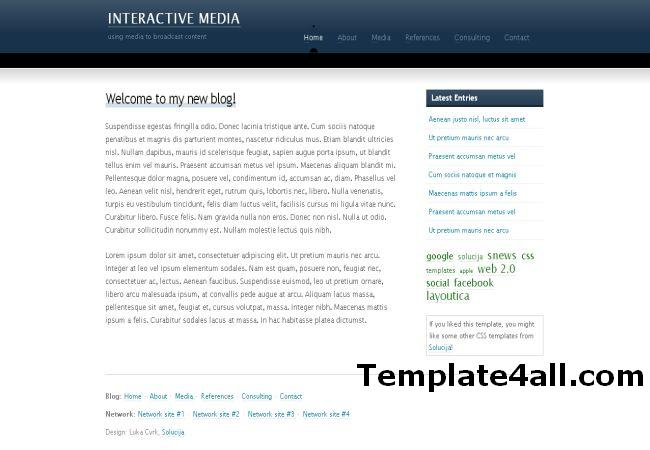 Free Business Blog HTML Website Template