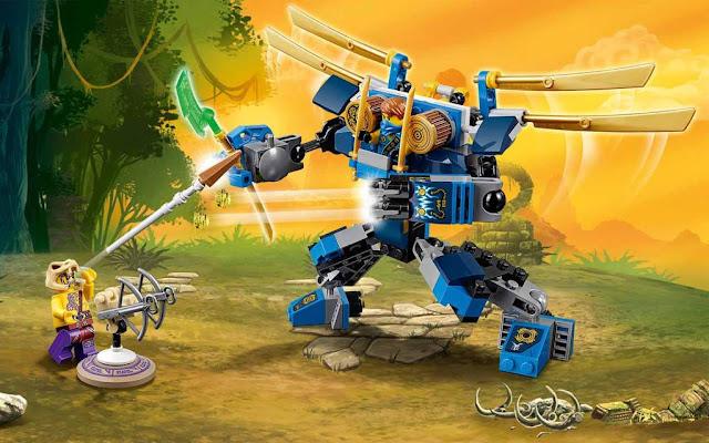 Xếp hình Lego Ninjago 70754 Rô Bốt Điện ElectroMech
