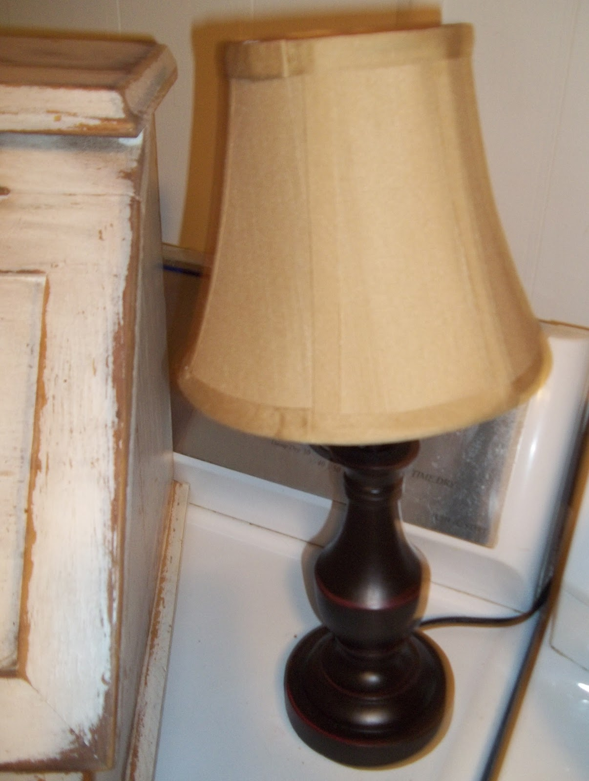 Simple needs thrift store lamps for Chunky wooden floor lamp