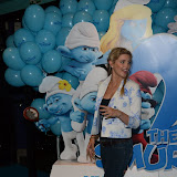 WWW.ENTSIMAGES.COM -  Ashley James    at     The Smurfs 2 - gala film screening at Vue West End (Leicester Square), London, July 28th 2013                                                  Photo Mobis Photos/OIC 0203 174 1069