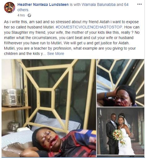 Heartless Husband On The Run After Allegedly Butchering His Wife (Graphic Photos) 1