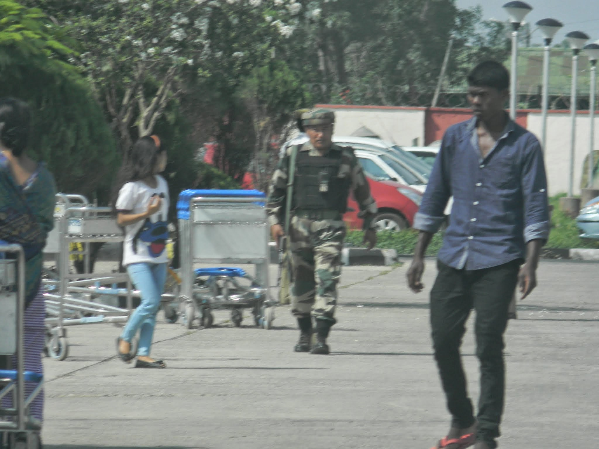 Photo: Security forces can be seen everywhere in Manipur.