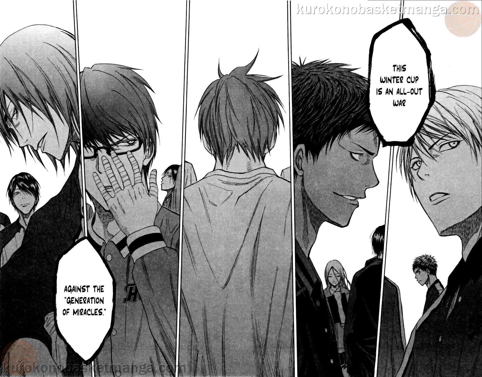 Kuroko no Basket Manga Chapter 108 - Image 16-17