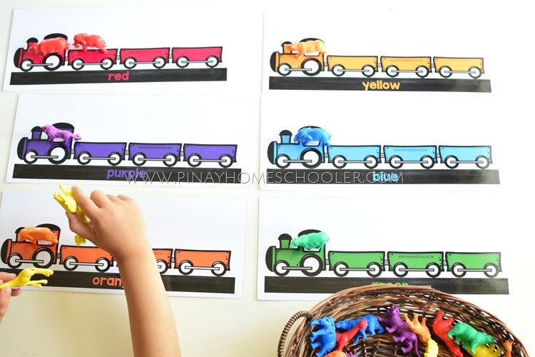 ANIMAL TRAIN COLOR MATCHING ACTIVITY