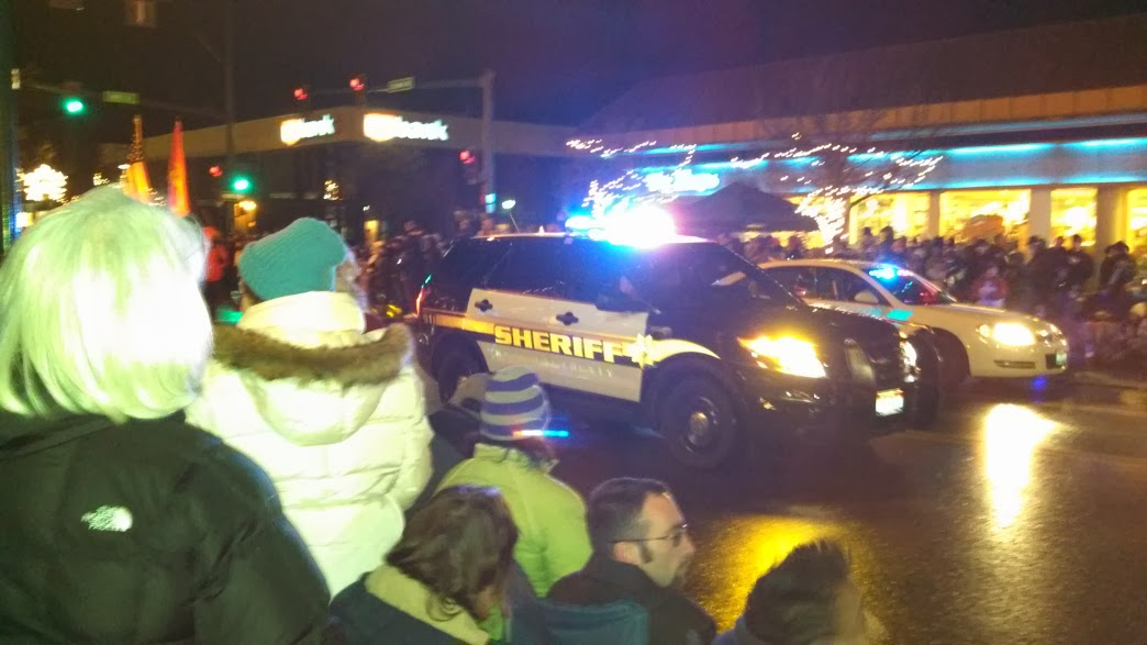 Leading the Coeur d'Alene Holiday Parade