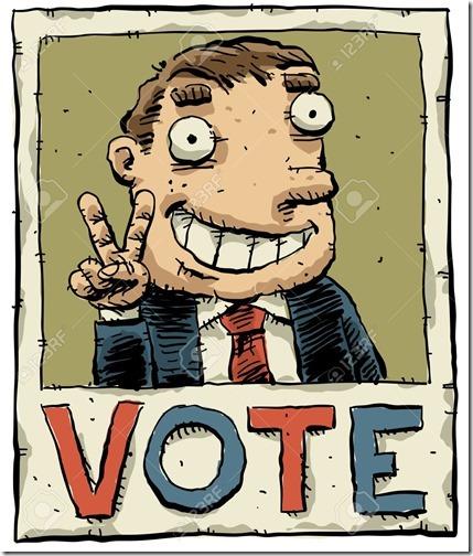 12186058-Un-cartel-electoral-de-dibujo