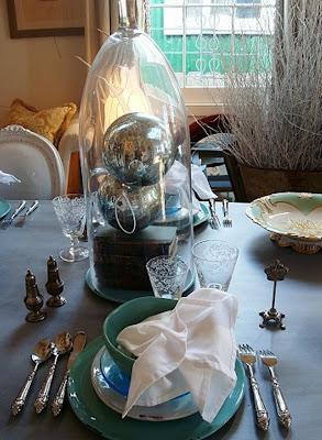 Новый Год, интерьер оформления стола, дизайн
