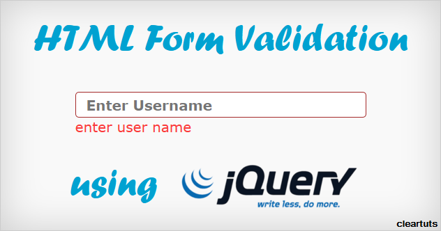 Simple HTML Form Validation using jQuery