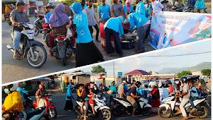 Cabang Talabiu, Titik Aksi Pembagian Takjil Kedua Pengurus DPD Partai GELORA Indonesia Kabupaten Bima