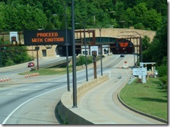 Approaching Cumberland Gap Tunnel