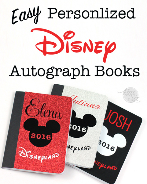 Easy Personalized DIY Disney Autograph books