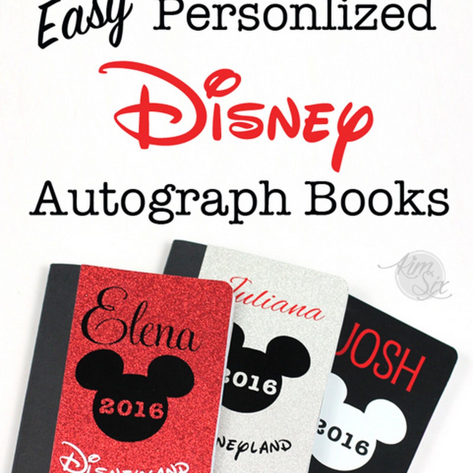 Easy DIY Personalized Disney Autograph Books