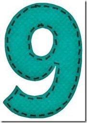 9 letras verdes