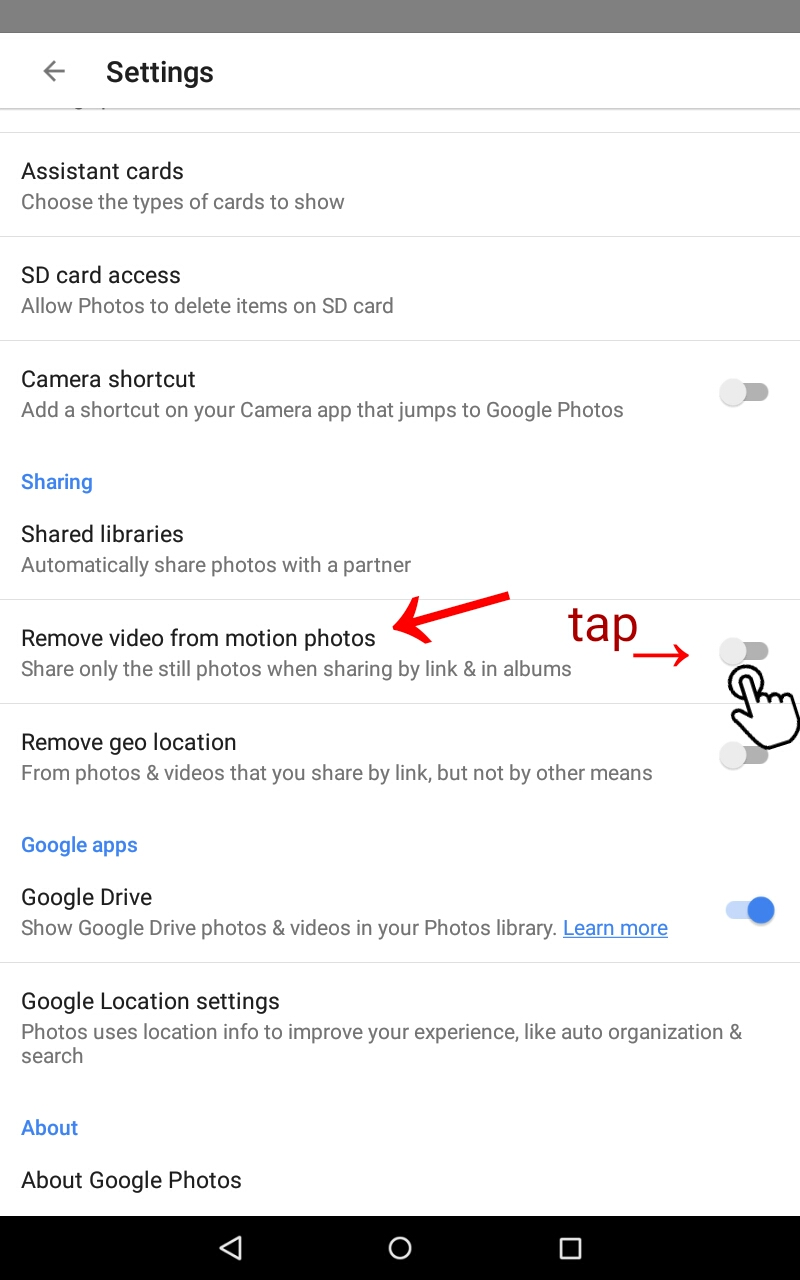 Save video as a different file type - Google Photos Abi