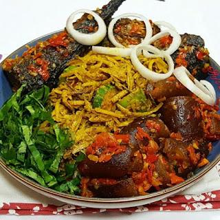 Abacha and Ugba (African Salad).