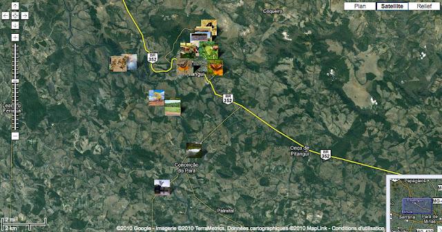 Localisation des photos autour de Pitangui