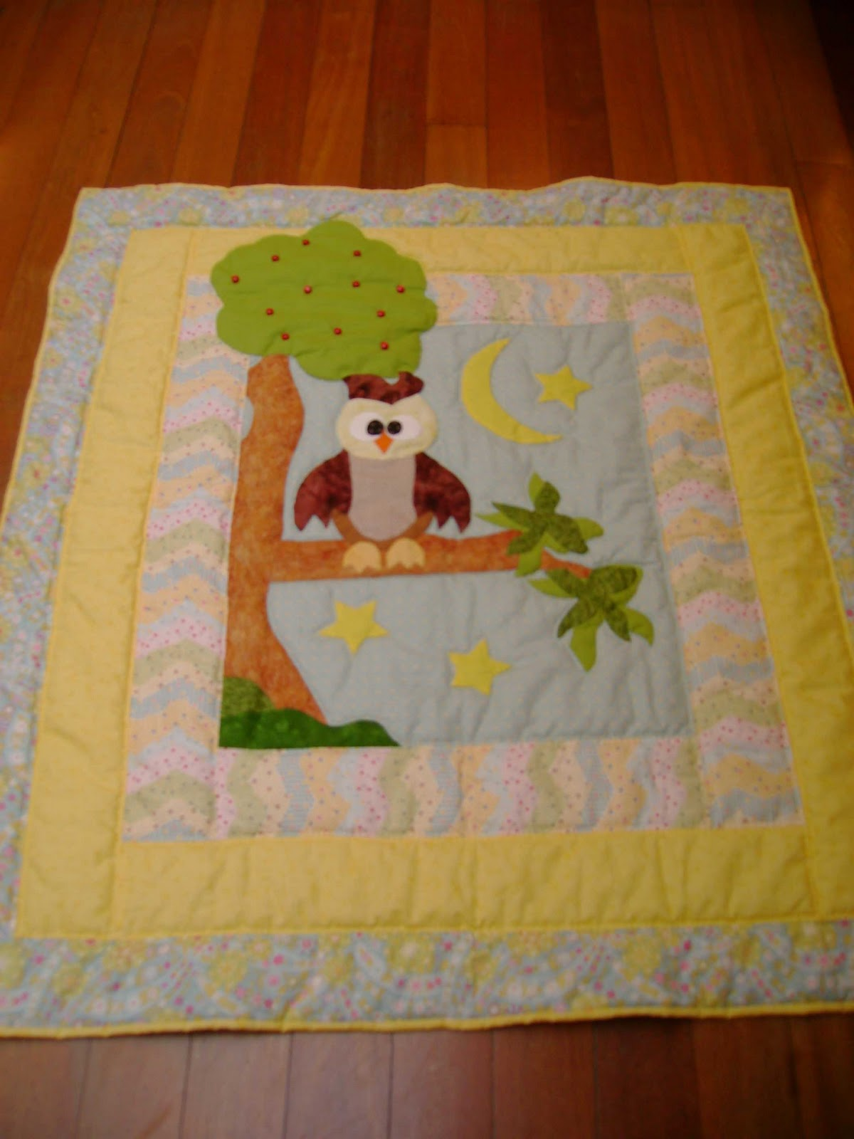 Quilt art patch colcha bebe buho - Colchas password para hacer ...
