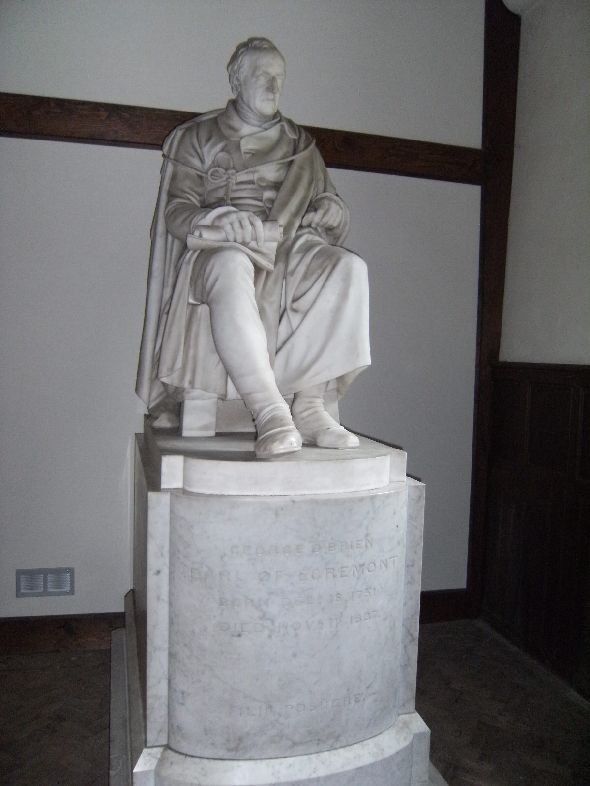 DSCF8380 Statue of the Earl of Egremont, Petworth Church