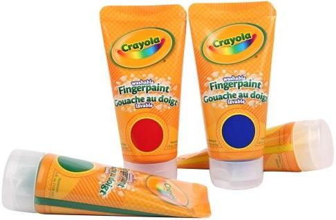 Bộ 4 tuýp màu vẽ bằng ngón tay Crayola Fingerpaints Bold Colors
