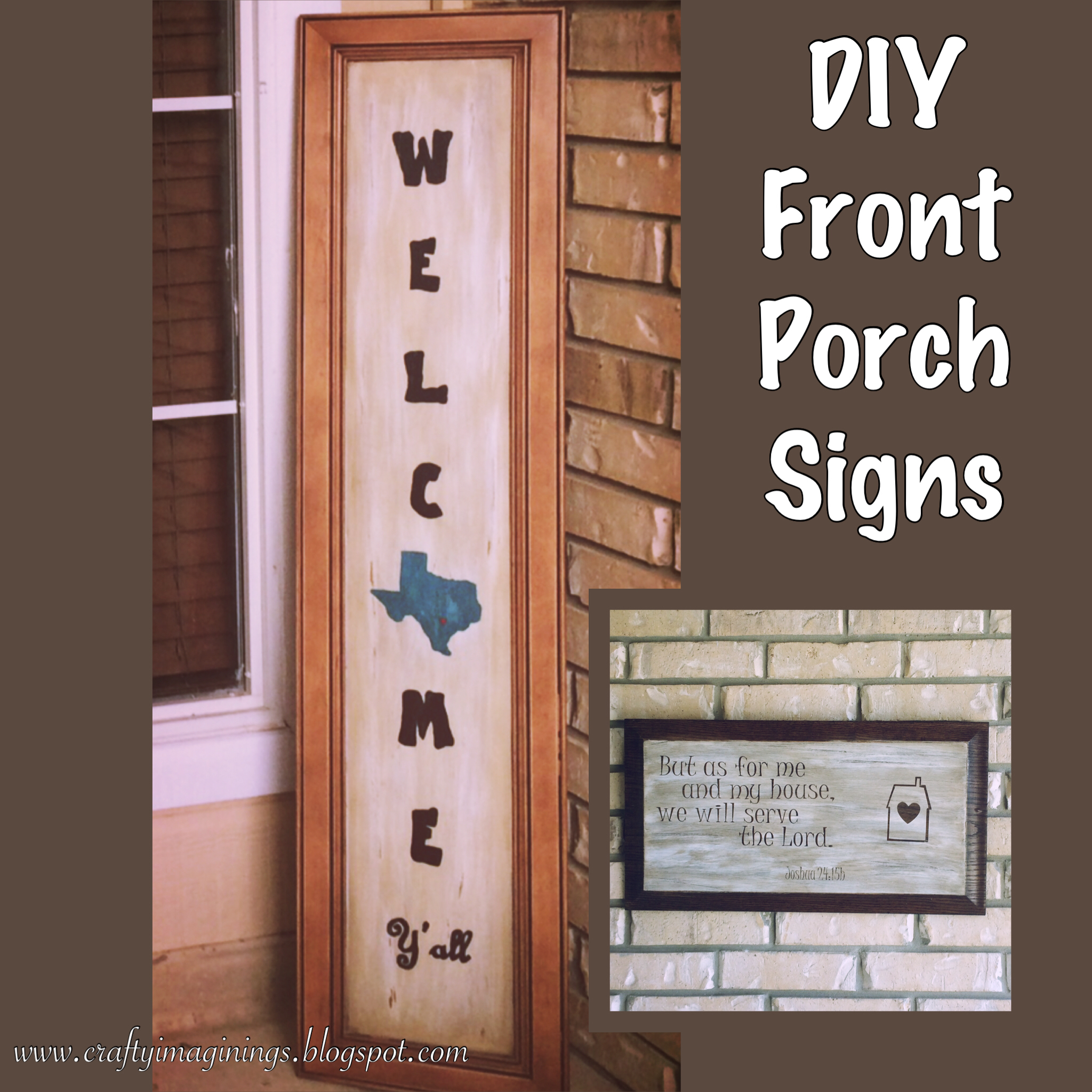 Crafty Imaginings Silly Things Diy Front Porch Signs Using