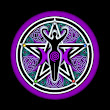 Purple Teal Goddess Pentacle