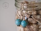 Turquoise semi-precious earrings.