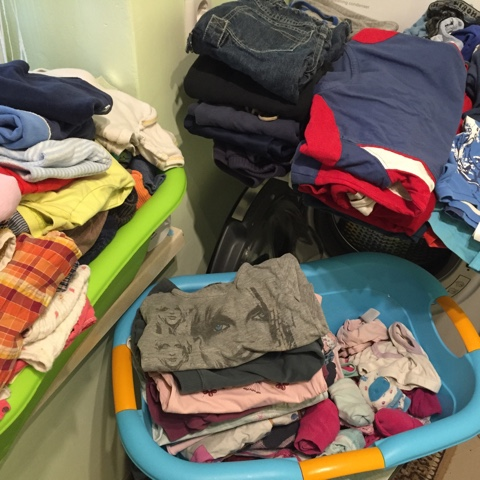 Wäsche in der Großfamilie