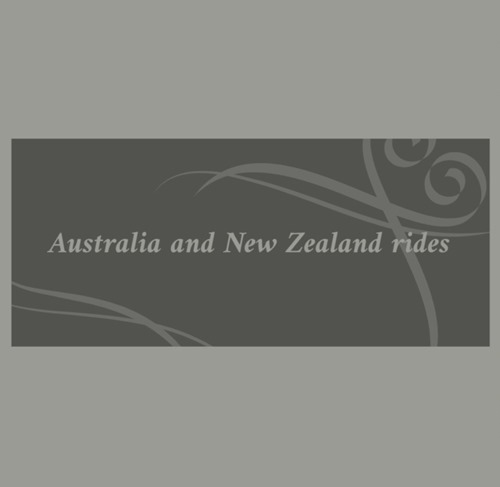 Australia and New Zealand ride list