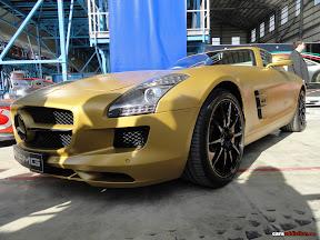Gold Mercedes SLS AMG