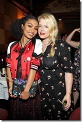 HOLLYWOOD, CA - MARCH 30: Actor Yara Shahidi (L) and photographer Amanda de Cadenet attend the Coach & Rodarte celebration for their Spring 2017 Collaboration at Musso & Frank on March 30, 2017 in Hollywood, California  (Photo by Donato Sardella/Getty Images for Coach)