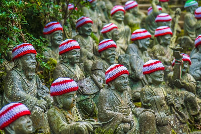 Miyajima Daishoin Temple statues of five hundred of Shaka Nyorai's disciple3