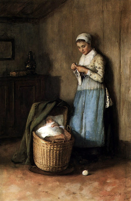 Albert Neuhuys - Mother and her child
