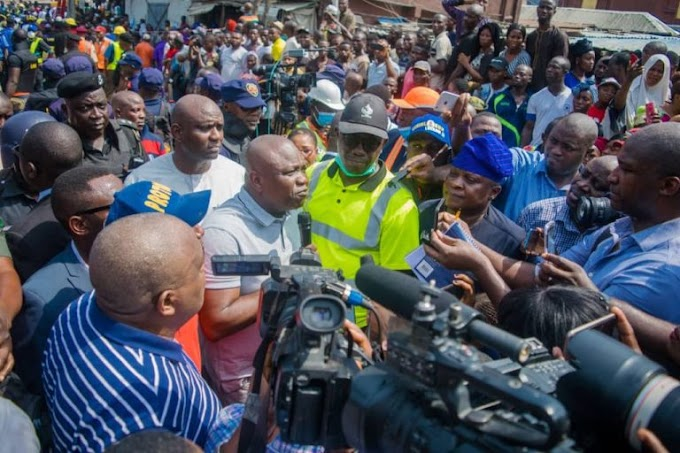 Ambode Visits Scene Of School Building Collapse In Lagos Island